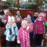 Berušky na zahradě MŠ - konečně trochu sněhu